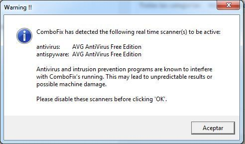 detecta antivirus el combofix