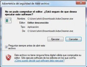 eliminacion virus con adwcleaner