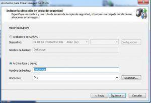 creando copia de seguridad con disk image
