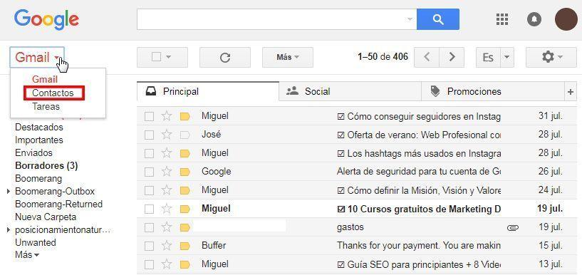barra gmail