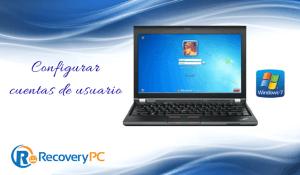 Configurar un usuario en windows 7