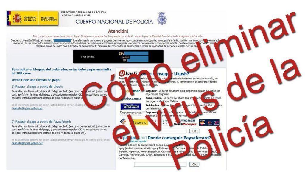 como eliminar virus de la policia