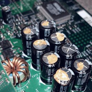 Condensador roto de la placa base