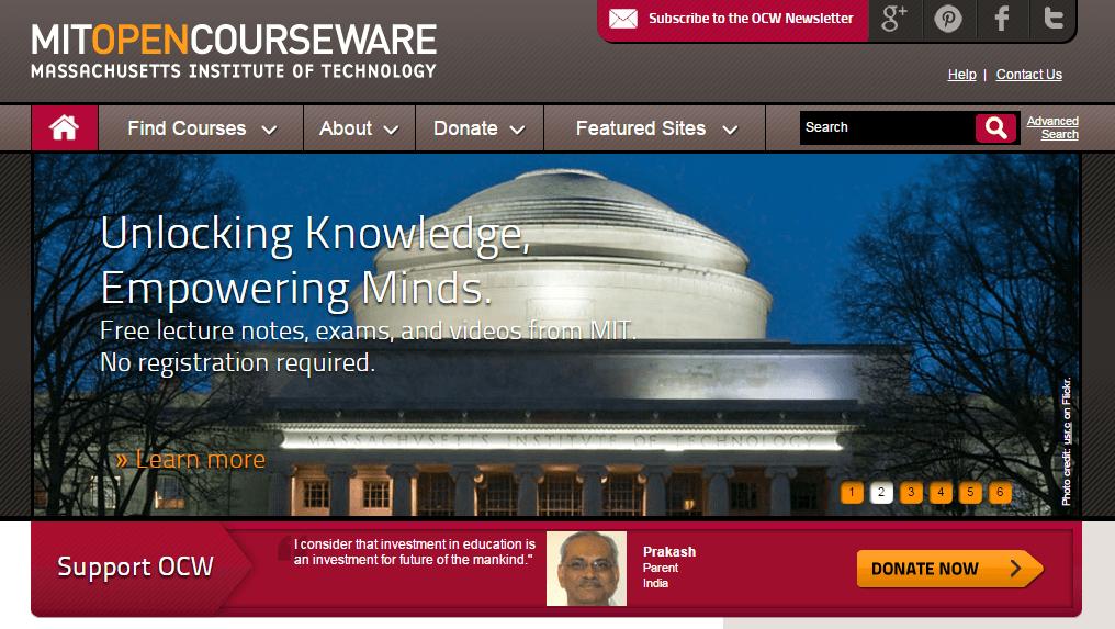 Estudia informatica en MIT Open Courseware