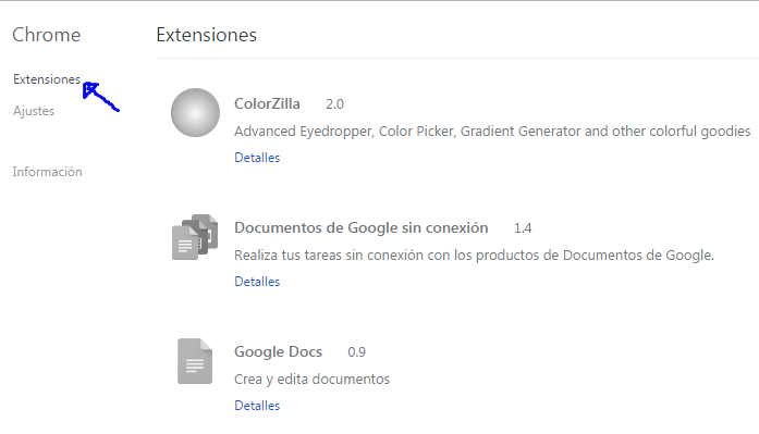 como eliminar extension de chrome 2