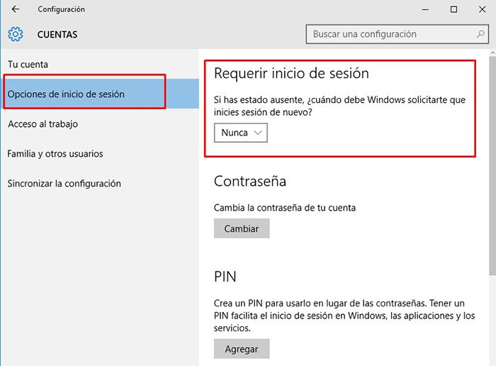 eliminar contraseña windows 10